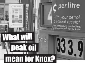 What will Peak Oil mean for Knox?