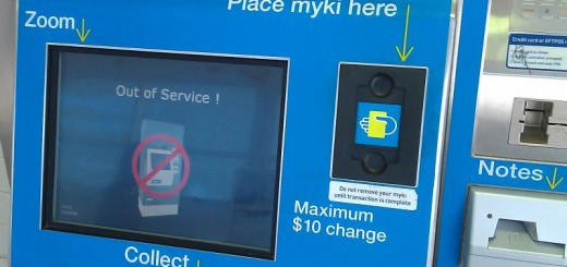 Myki machine out of service