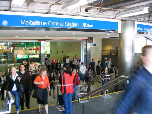 The exit Melbourne Central plans to close