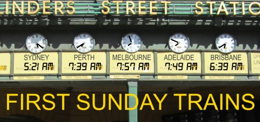 Sunday trains start times