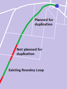 Bacchus March Rowsley duplication map