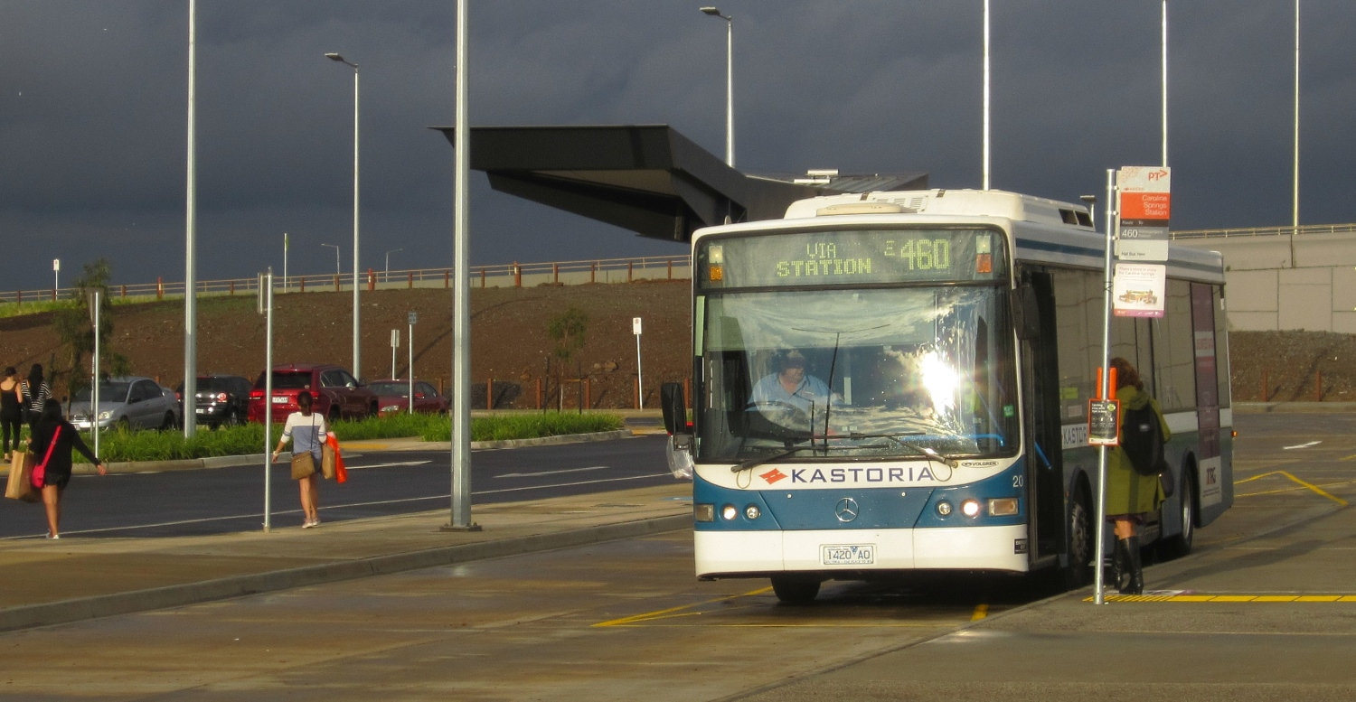 Bus at Caroline Springs Station