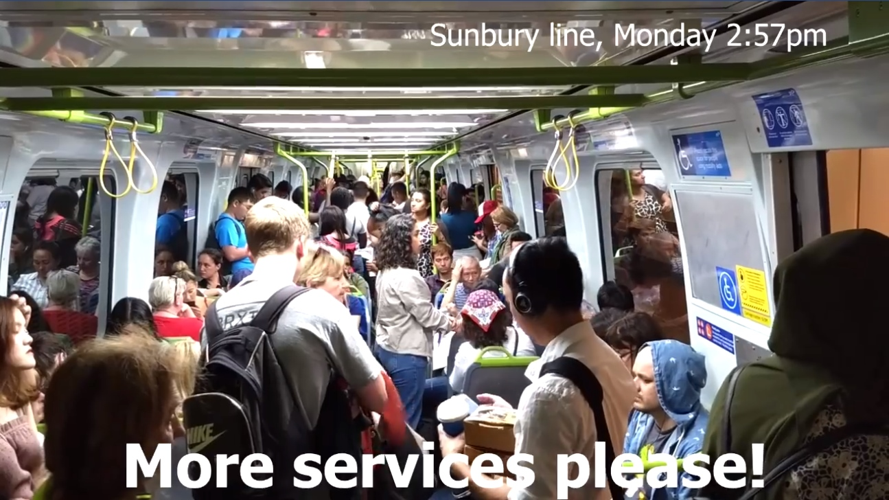 Sunbury line 2:57pm