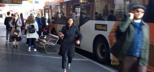 Bus at bus stop