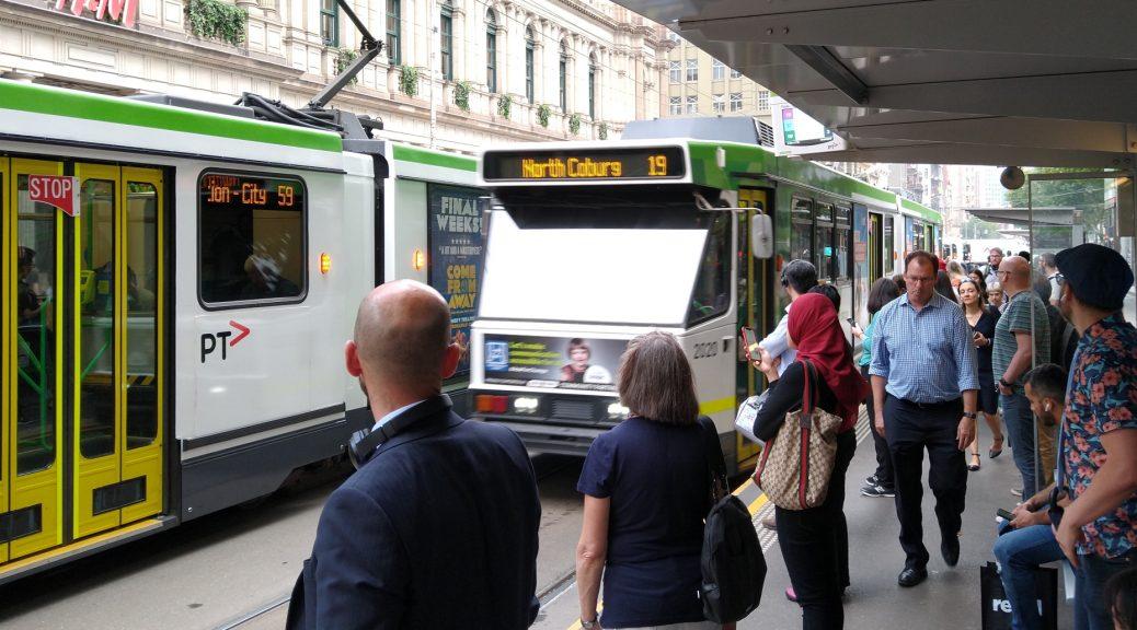 Tram passengers