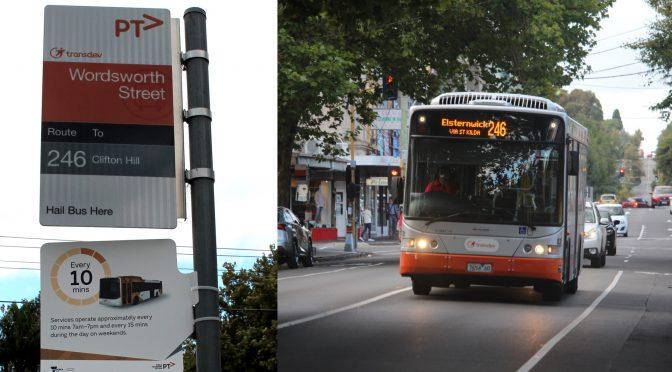 246 bus, rapid running