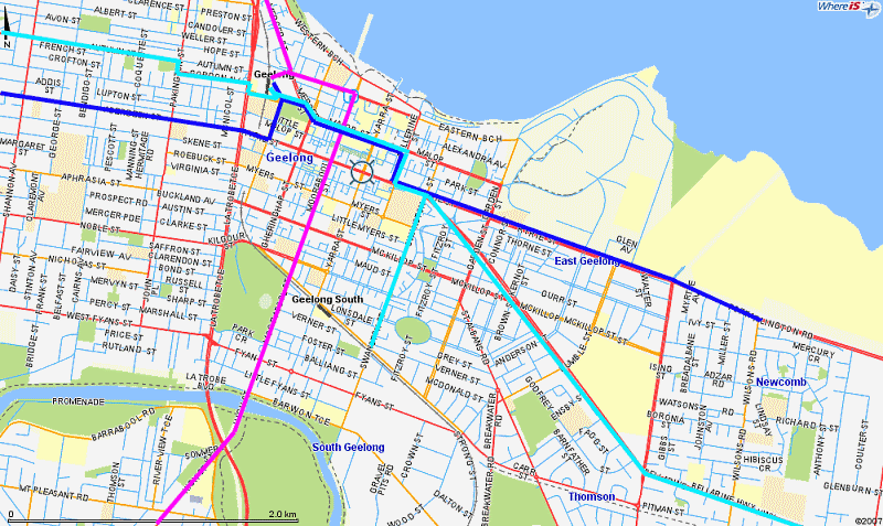 Geelong - 'tram-like' city-centre bus routes