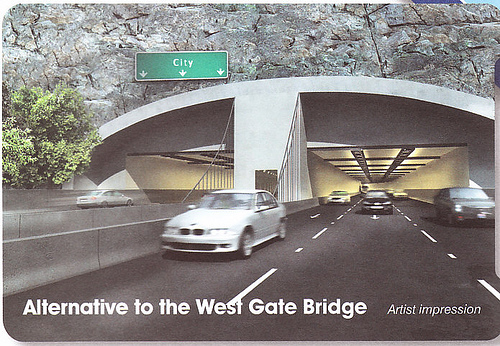 Artist's impression of East-West tunnel from Victorian Transport Plan